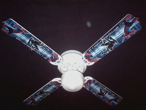 New amazing spiderman 3 spider man ceiling fan 42 ebay image is loading new amazing spiderman 3 spider man ceiling fan aloadofball Gallery