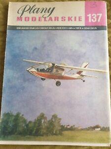 "Airplane modeling plans - ""PRZĄŚNICZKA"" (The Spinner)"