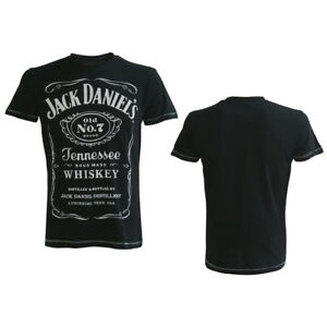 Jack Daniels Classic Logo Mens Black T-Shirt