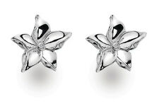 Sterling Silver Diamond Small Flower Studs By White Ice *DE325