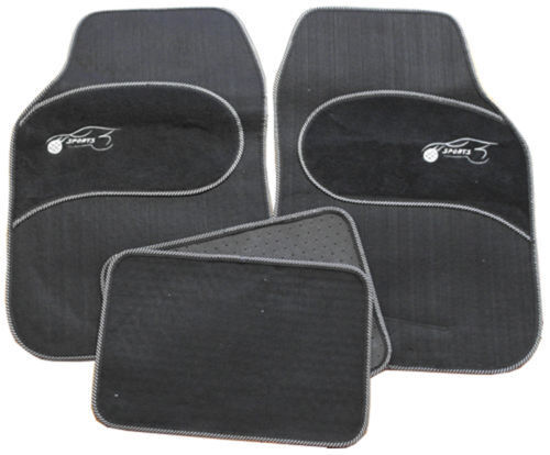 Subaru Tribeca Trezia Universal GREY Trim Black Carpet Cloth Car Mats Set of 4
