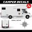 Camper decal compass sticker camping motorhome nautical sailing sunlight carado