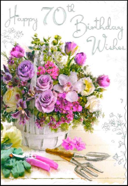 JONNY JAVELIN VELVET FLORAL BIRTHDAY CARD
