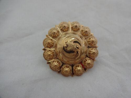 Engraved Brass Yuma Berry Hansen Western Gear Scarf Slide Bandana Concho 1 1//2