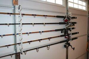 Rod Sitter 10 Fishing Rod Storage Rack Mounting Overhead