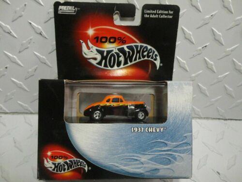 Hot Wheels 2002 100/% Black Box Orange//Black 1937 Chevy