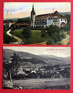 Fein 2 X Ak Bad Flinsberg 1913/19 Kurhaus Und Ortsansicht 9505 Ehemalige Dt. Gebiete Sammeln & Seltenes