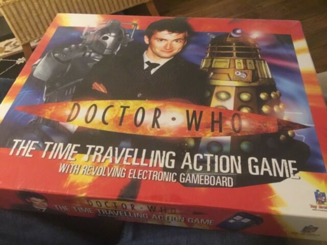 Doctor who the time travelling action game with revolving electronic game board.
