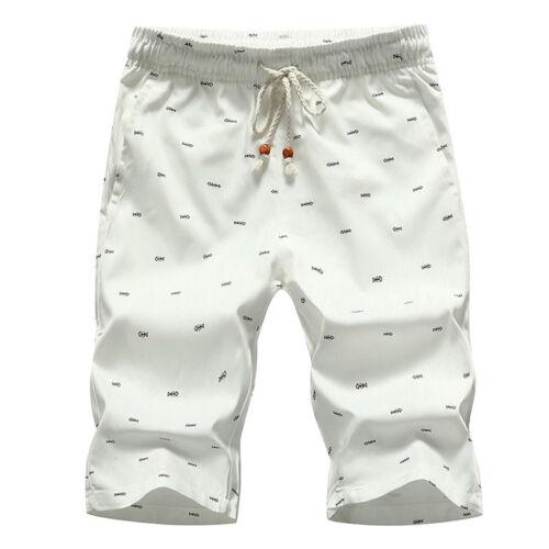 Summer Mens Surf Pants Cotton Shorts Boardshorts Beach Casual Shorts Short Pants