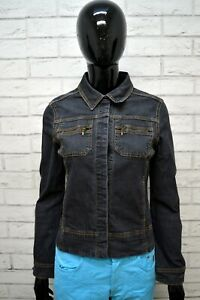 MARLBORO-CLASSICS-Giubbino-Donna-Size-S-Jeans-Giacca-Jacket-Giubbotto-Cotone-Blu