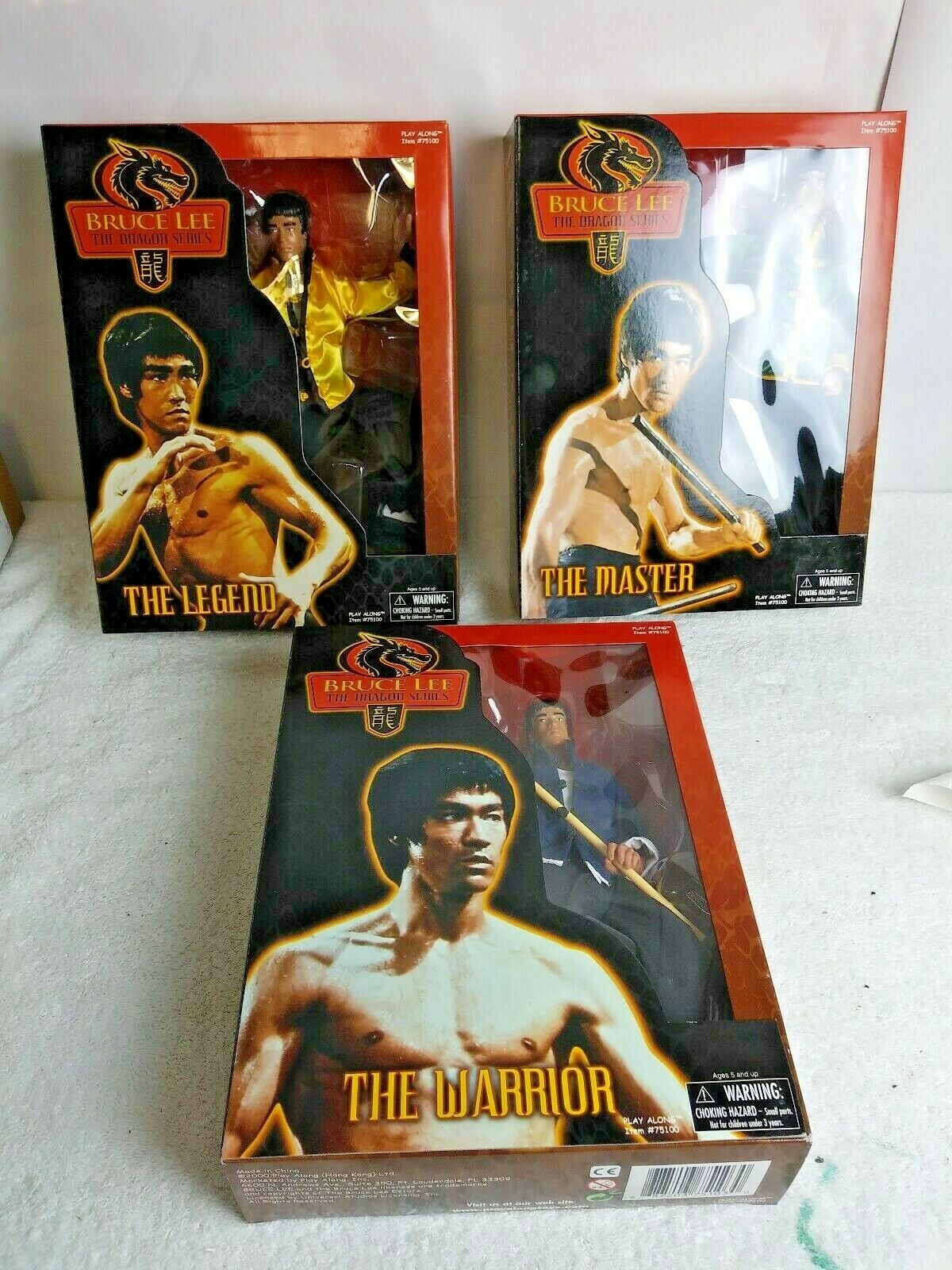 BRUCE LEE THE DRAGON SERIES PLAY ALONG  75100 SET OF 3