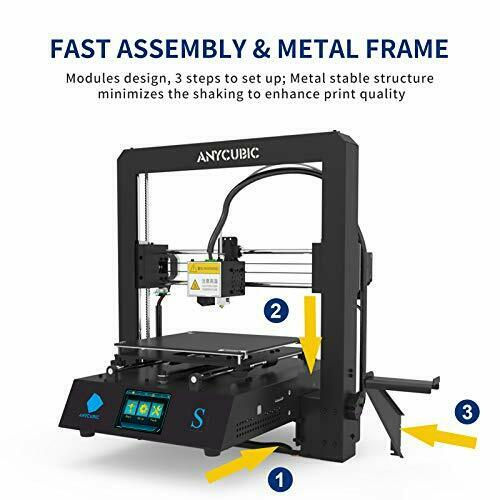 Mega-S New Upgrade 3D Printer with Extruder and Suspended Filament Rack Mega S