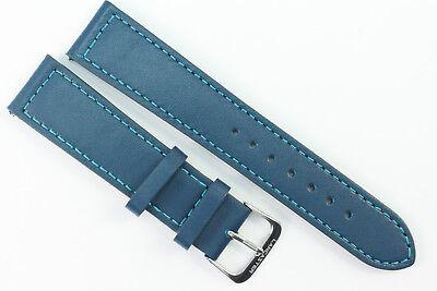 Uhrenarmband Soft-Kalbsleder Freiburg-TiT DS extralang schwarz 22 mm