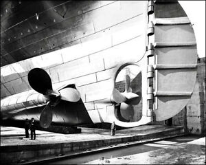 Titanic-5-Photo-8X10-Construction-Propellers-1911