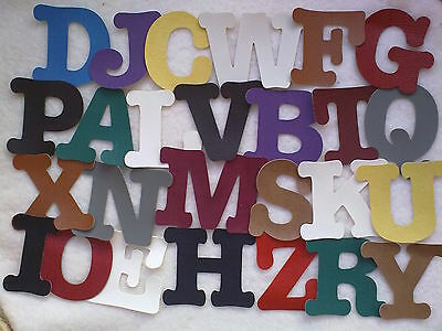 Large Vinyl Faux Leather Die Cut Capital Alphabet Letters Numbers Cut To Order