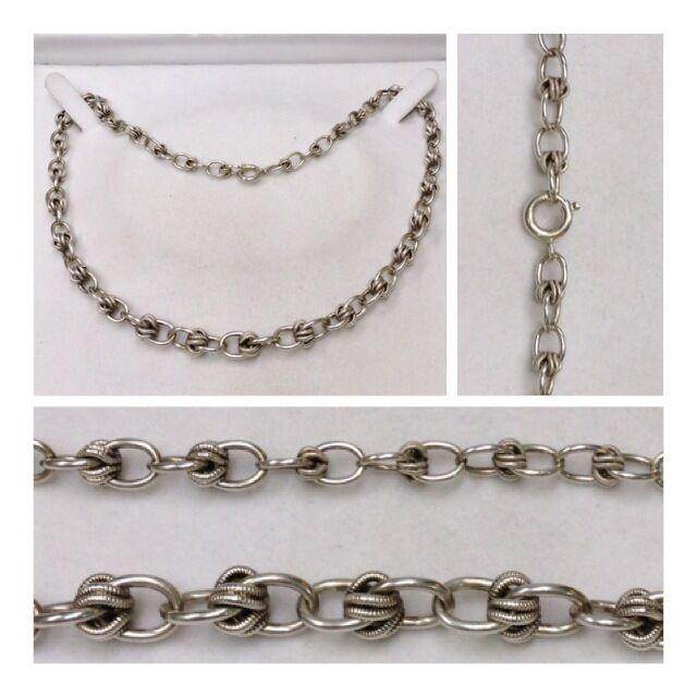 Collana silver in accessori collier con nodo IM Andamento