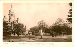 GRANTHAM-Lincolnshire-St-Peter-039-s-Hill-and-Town-Hall-RP-JONES