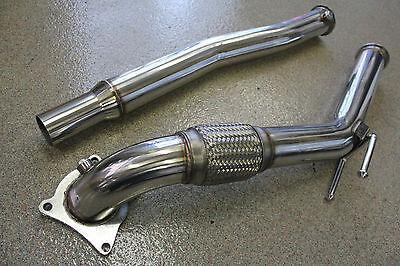 "Turbo Exhaust Downpipe 2006-2010 Volkswagen GTI 2.0T FSI /& TSI CCTA MKV 3/"""