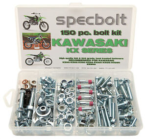 L Kawasaki KX Bolt Kit 60 65 80 85 100 125 250 400 420 500 engine body frame