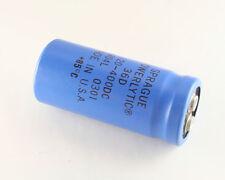 2x 120uF 400V Large Can Electrolytic Aluminum Capacitor 120 uF 400VDC 120mfd
