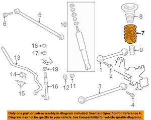 Toyota Oem 99 00 4runner Rear Suspension Spring 4823135210 Ebay