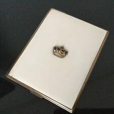 Etui A Cigarettes Ancien BOITE 1920 Art Déco Couronne Noblesse Box