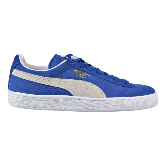 Puma Suede Classic+ Men's Shoes Olympian Blue White 352634 64