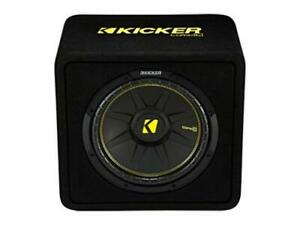 Kicker-44VCWC122-CompC-12-inch-Subwoofer-in-Vented-Enclosure-2-Ohm-300W