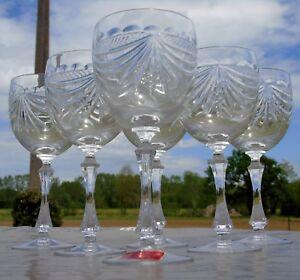 Cristallerie-de-Lorraine-Lemberg-Service-de-6-verres-a-eau-en-cristal