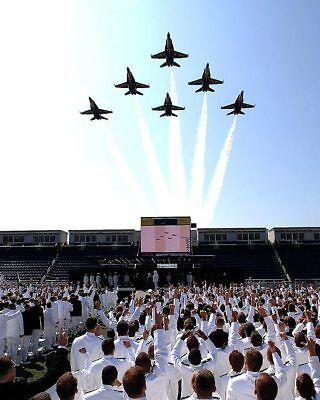 U.s.marine Akademie Graduierung Blue Angels Abgedeckte 11x14 Silber Halogen Foto Luftfahrt & Zeppelin Sammeln & Seltenes