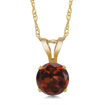 8MM Ruby /& 1//5CT Diamond 14K Gold Over Silver Halo Pendant With 18 Free Chain