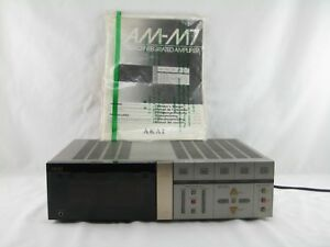 Details about Akai AM-M7 Stereo Integrated Amplifier w/ Original Manual  Parts Or Repair Only