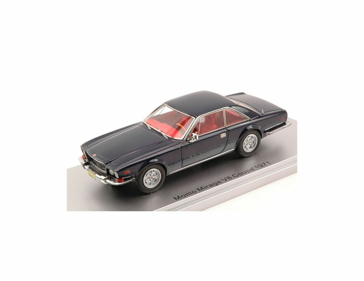 Kess Model KS43033901 MOMO MIRAGE V8 COUPE' 1971 NIGHT blu 1:43 Modellino