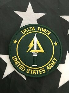 Delta-Force-US-Army-Special-Force-Counter-Terrorism-Embroider-GREEN-Patch-Hk-Lp