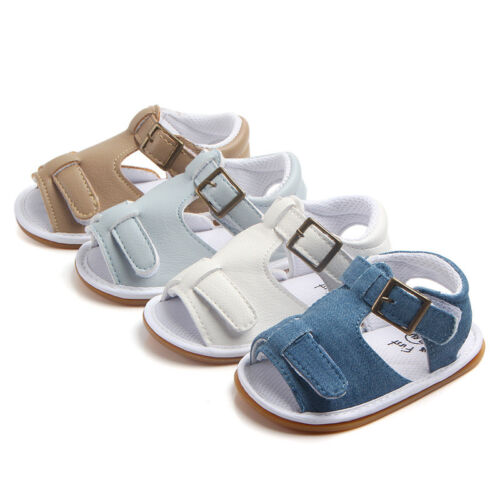 Baby Shoes Infant Boy Girl Soft Sole Crib Toddler Summer Sandals Shoes For 0-18M