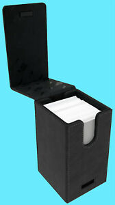 ULTRA PRO ALCOVE PREMIUM COWHIDE LEATHER TOWER FLIP DECK BOX Card Storage Case