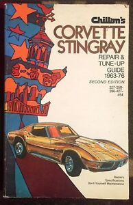 Details about CHILTON'S CORVETTE STINGRAY REPAIR & TUNE-UP GUIDE (1963-76)