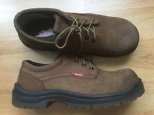 Red Wings King Toe Brown Leather Steel Toe Sz 11 Men's Work Shoes Oil Resistant
