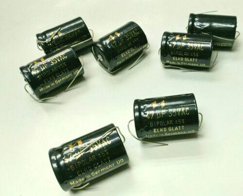 2x Mundorf e-CAP bipolar Elko Super 47 uf 35VAC Llano de la película electrolítica X-Over