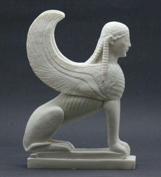 Griechischer Sphinx Von Naxos Frau Lion Gussmarmor Skulptur Statue Museum Kopie