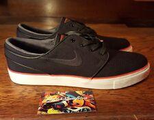 NEW Nike SB Zoom Stefan Janoski Canvas Mens (615957-008) Black / Red Shoe Size 9