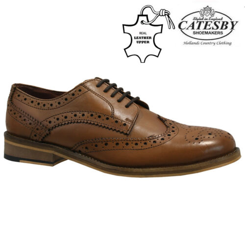 NEW MENS REAL LEATHER ITALIAN CASUAL FORMAL BROGUE OXFORD OFFICE WEDDING SHOES
