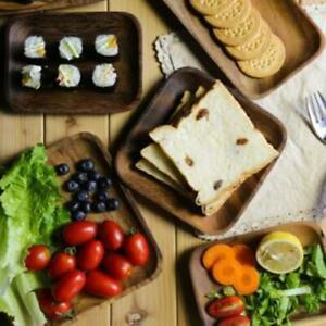 Food-Dessert-Kitchen-Home-Tableware-Tea-Plate-Wooden-Tray-Dinner-Plate-Q