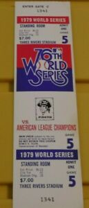 PITTSBURGH-PIRATES-1979-WORLD-SERIES-GAME-TICKET-FULL-TICKET-IN-GREAT-SHAPE