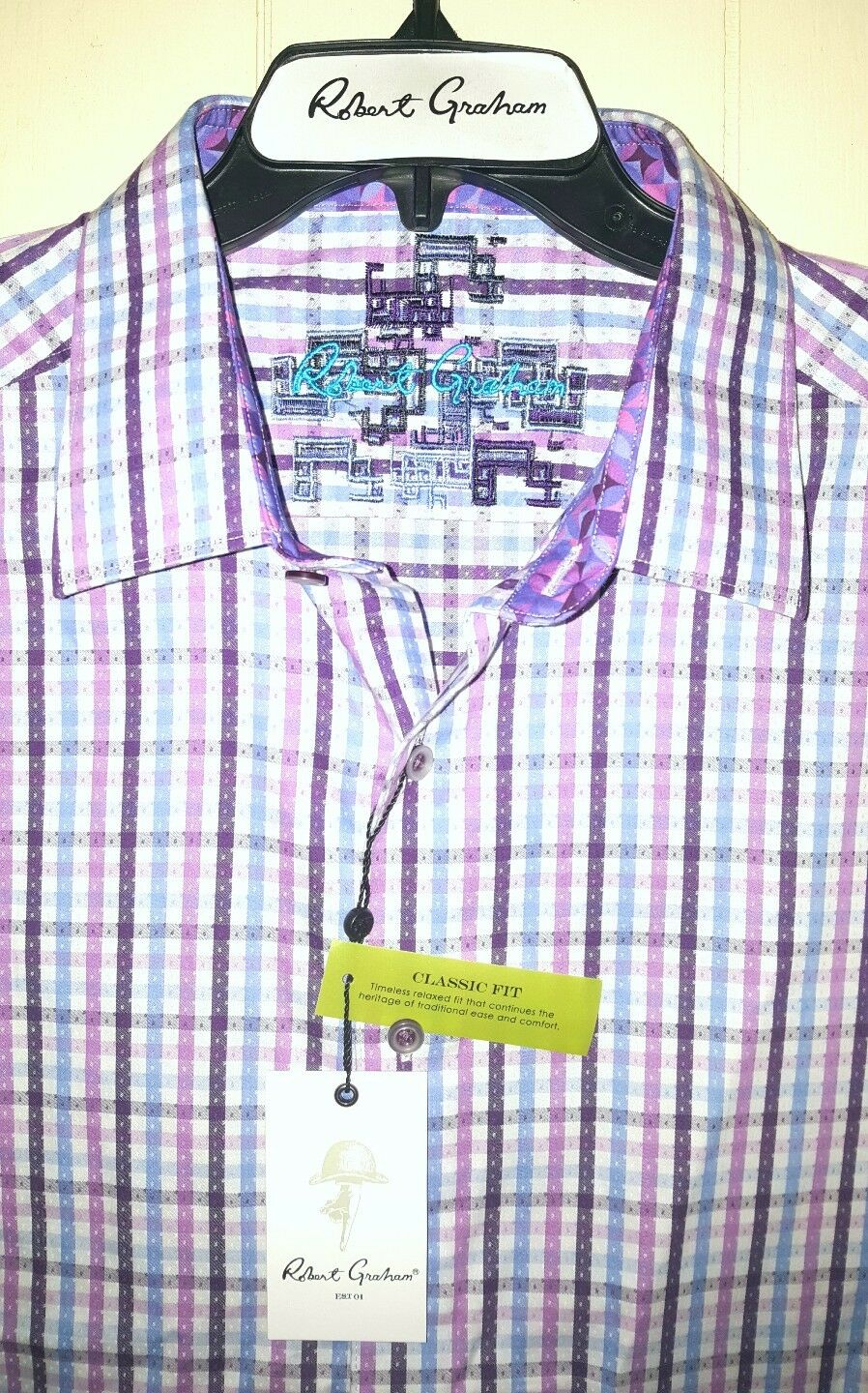 Robert Graham Abstract Long Sleeve Button Shirt  3XL (NWT - )