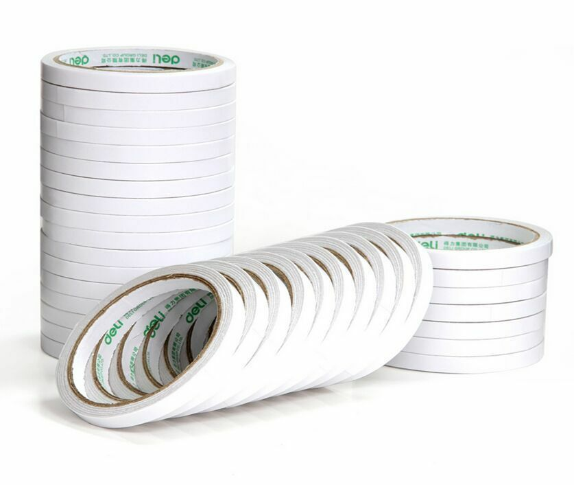2 6 10pcs 6mm white double sided super strong adhesive for Double sided craft tape
