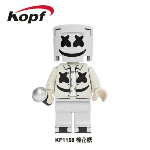 DJ Marshmallow Costume Bricks  Collection Building Blocks Gift Toys Kids New