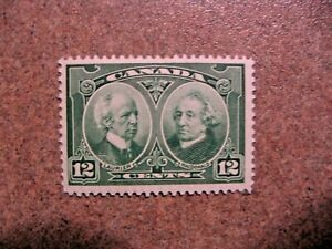 Canada-1927-147-Laurier-and-Macdonald-12c-green-Mint-VF-Hinged