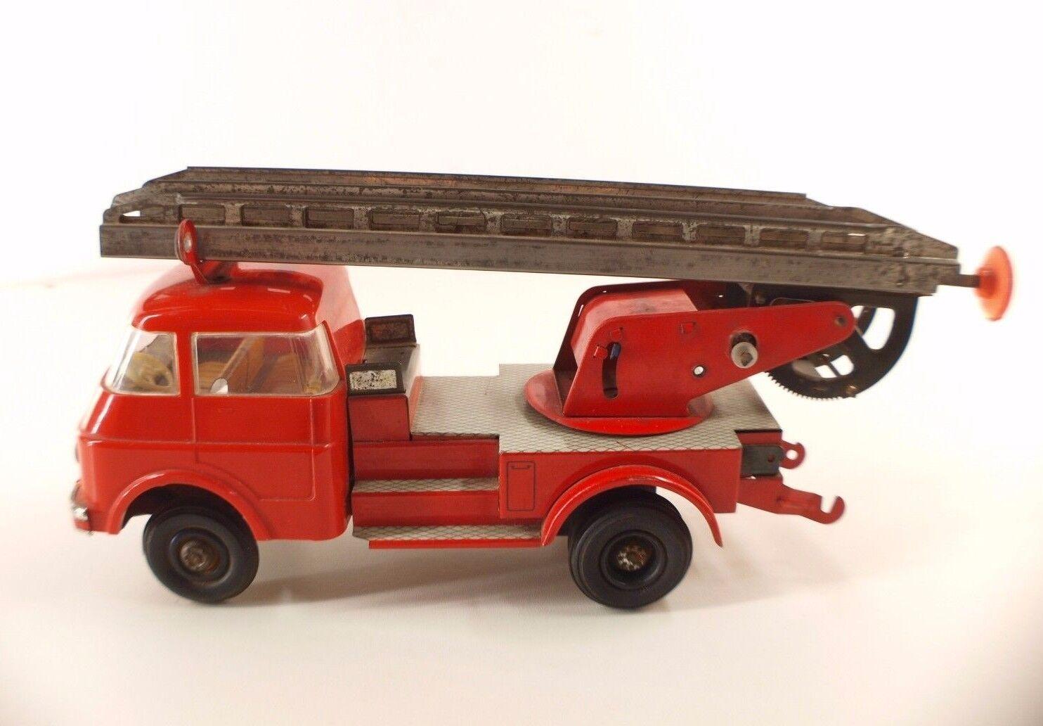 Ms GDR Lastwagen Feuerwehrmann Friktion Blech Tintoy Feuer Lkw 27 cm Version