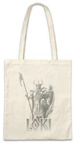 Loki-Stofftasche-Einkaufstasche-Vikings-Walhalla-Odhin-Nordic-God-German-Gott